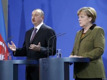Меркель в своем глазу Майстера не видит, а в глазах Алиева увидела Милли
