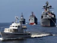 Российские корабли начали учения на Каспии