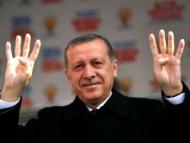 Линия войны на руке Эрдогана
