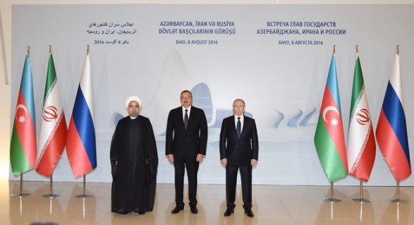 Руководителя РФ, Ирана иАзербайджана обсудили общие проекты наКаспийском море