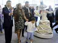 Дочь Ильхама Алиева в кулуарах с Илюмжиновым