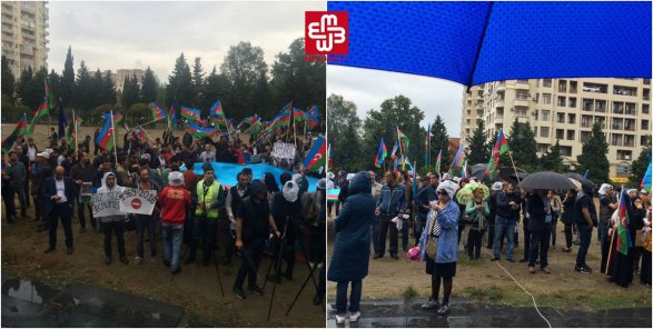 Встолице Азербайджана после митинга Нацсовета некоторые участники попытались нарушить публичный порядок
