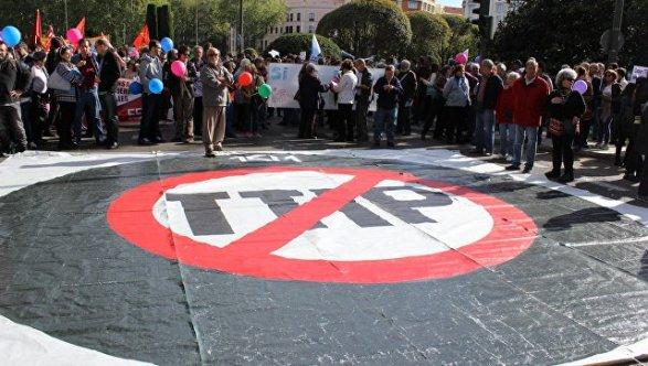Тысячи германцев протестуют против торговых договоров сСША иКанадой
