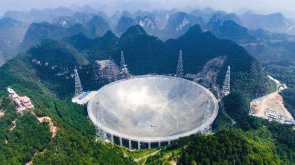 Наибольший вмире радиотелескоп запустили в Китайская республика