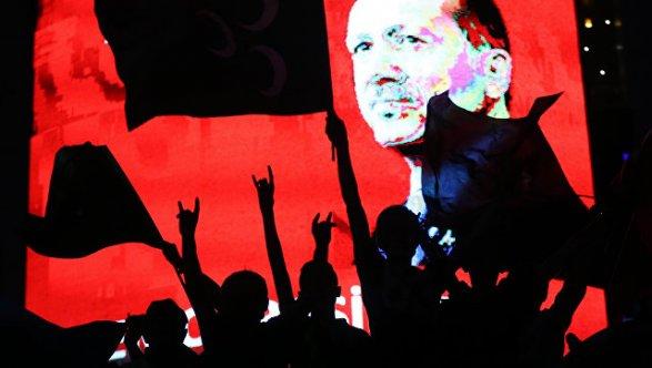 В столицеРФ проходит митинг упосольства Турции