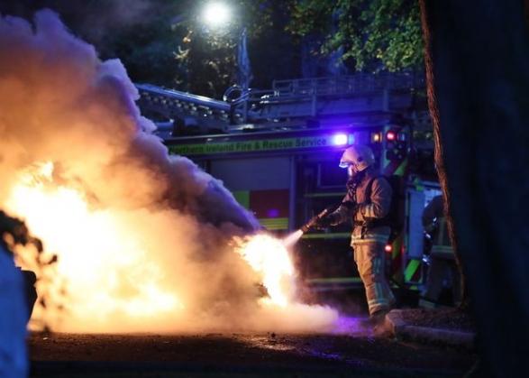 Пожар у отеля сборной в Белфасте