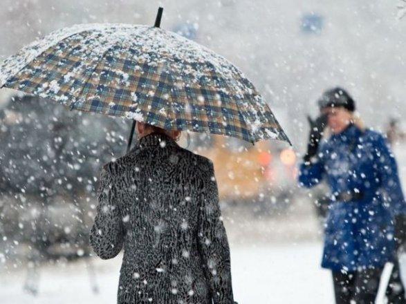 ВАзербайджанской столице прогнозируется мокрый снег