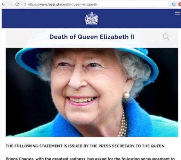 Юзеры социальных сетей обсуждают смерть ЕлизаветыII