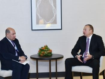 Ильхам Алиев в Давосе первая встреча