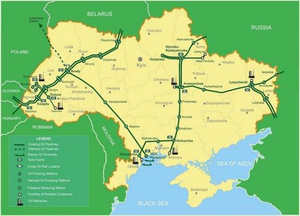 ВУкраинском государстве заработал «спящий» нефтепровод— инфографика