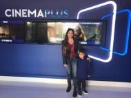 Арзу Алиева с сыном в Cinema Plus