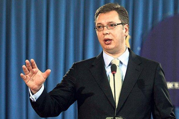 Намитинг против новоизбранного президента вышли вСербии