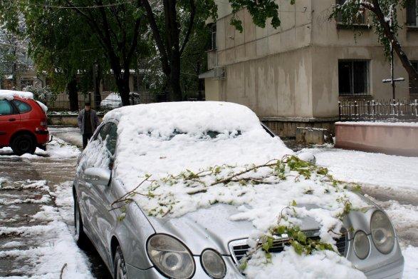 Мощнейший снежный циклон обвалился наМолдавию и Украинское государство
