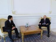 Японский посол на приеме у Ильхама Алиева