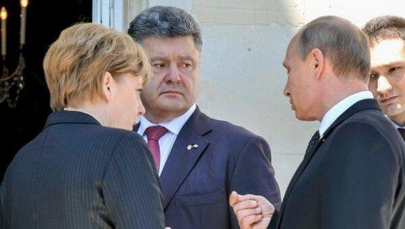Путин иПорошенко обсудили потелефону Донбасс