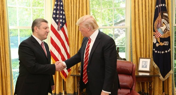 ВВашингтоне прошла встреча премьера Грузии сТрампом иПенсом