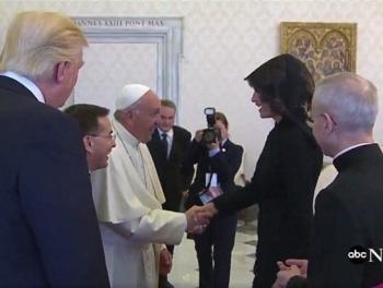 Мелания Трамп рассказала Папе Франциску, чем кормит мужа