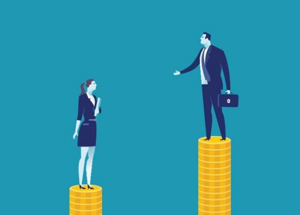 the disparity in wages for women and men Factors like this contribute to lower yearly earnings for women while the pay gap has narrowed of convergence between the wages of men and women.