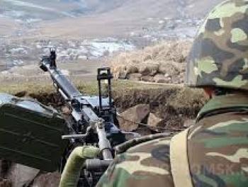 Армяне продолжают обстрел азербайджанских позиций