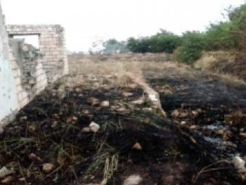Из-за обстрелов армян начался пожар в Агдаме