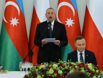 Прием в честь Ильхама Алиева в Польше фото