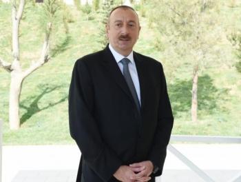 Ильхам Алиев в Гейгеле