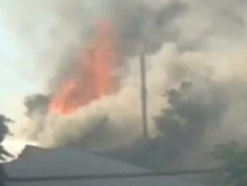 Пожар на заводе Gazelli в Баку