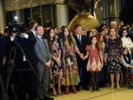Лейла и Арзу Алиевы на выставке китайских художников