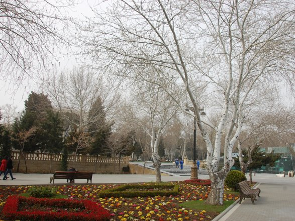 ВАзербайджанской столице обещают ветер идождь