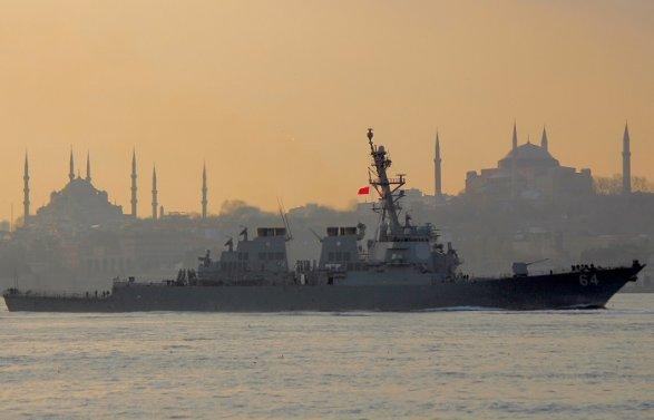 ВЧерное море вошел 1-ый  в этом году  эсминец ВМС США