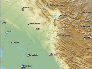 Снова землетрясение в Иране