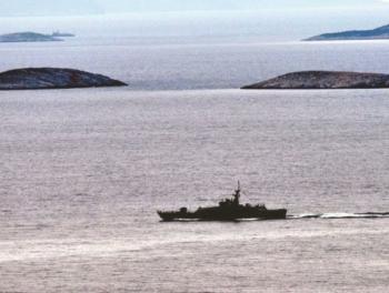 Столкновение боевых судов Турции и Греции в Эгейском море