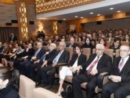 Мехрибан Алиева c дочерью и отцом на презентации фильма «Одна семья»