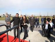 Лейла Алиева на открытии спортивной площадки