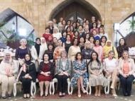 Супруги иностранных послов на встрече с Мехрибан Алиевой