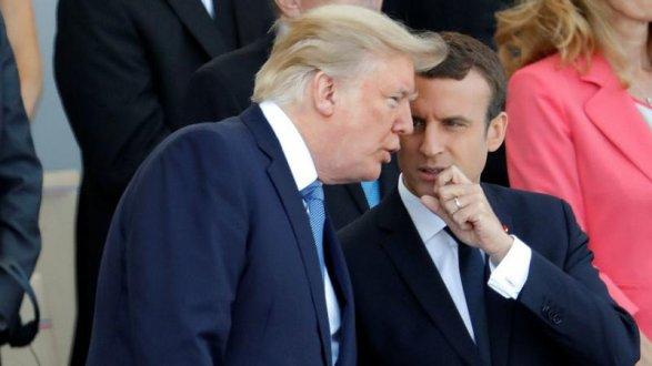 Трамп иМакрон обсудили высылку русских дипломатов