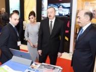 Алиевы на международной выставке в Баку