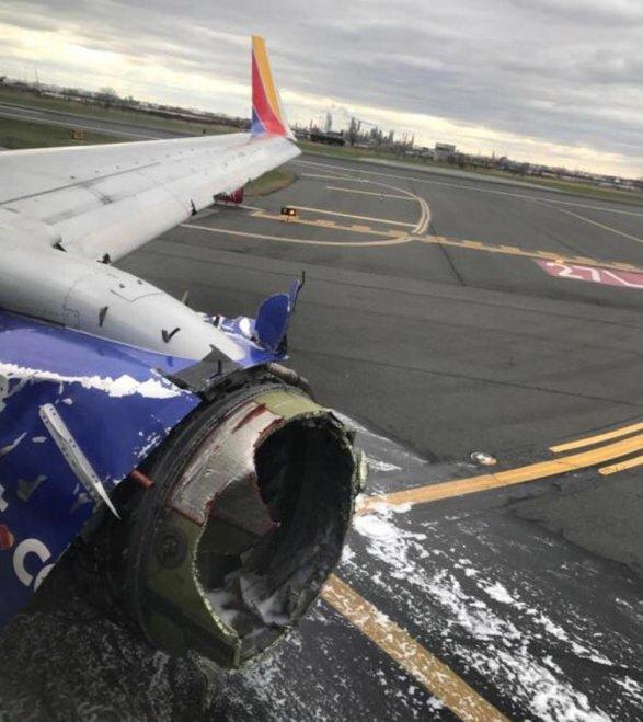ВСША при экстренной посадке самолета Southwest Airlines умер человек