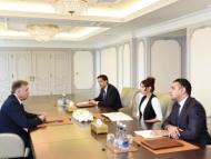 Французский сенатор на встрече с Мехрибан Алиевой