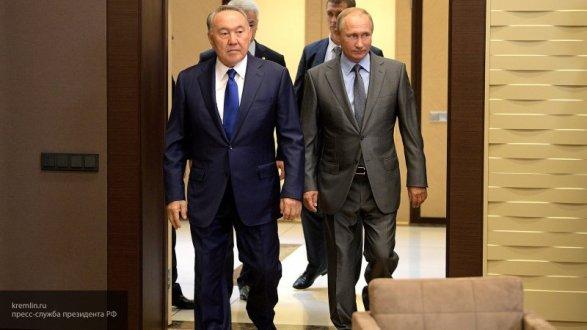 Путин иНазарбаев обменялись поздравлениями спредстоящим Днем Победы
