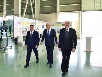 Ильхам Алиев открыл новый завод в Баку