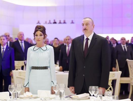 Алиевы на официальном приеме в честь АДР