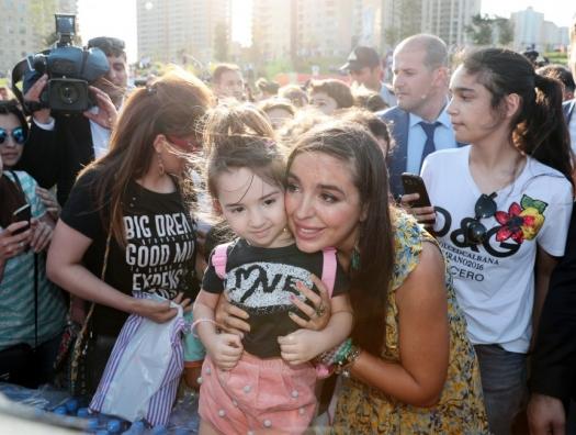 Лейла Алиева приняла участие в празднике для детей