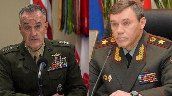 Руководитель Генштаба РФ обсудил положение вСирии сколлегой изсоедененных штатов