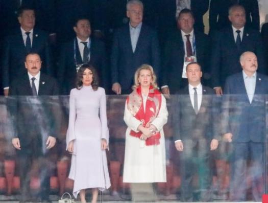Алиевы на открытии чемпионата мира по футболу