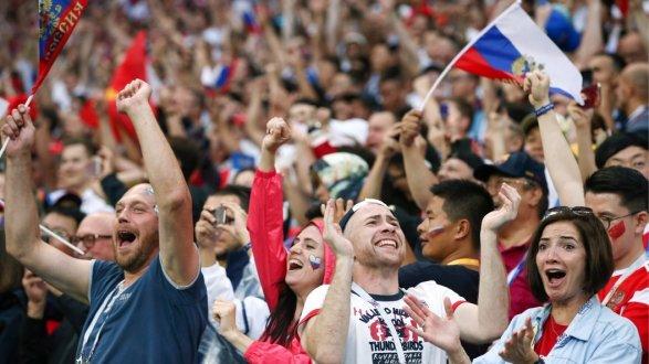 Празднование выхода в ¼ вфутболе напомнили Пескову победу 1945 года