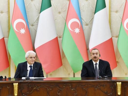 Ильхам Алиев: Азербайджан рассчитывает на Италию