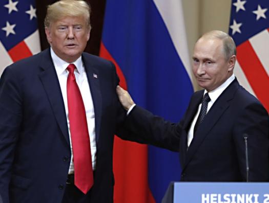 Трамп поскользнулся на встрече с Путиным
