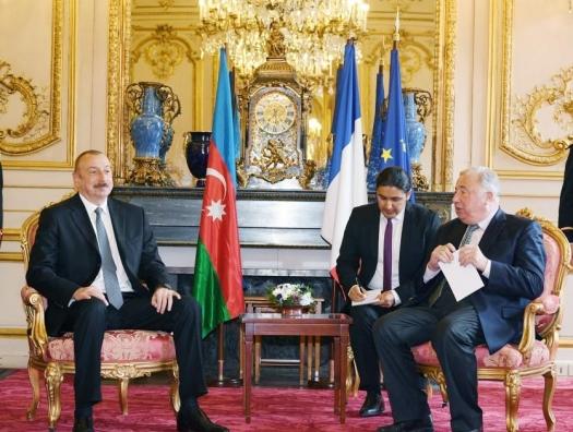 Ильхам Алиев обсуждает Карабах в Сенате Франции