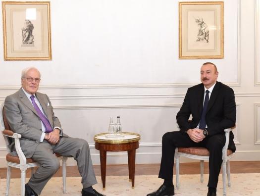 Переговоры Ильхама Алиева с деловыми кругами Франции